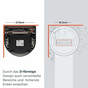Neato Saugroboter D-Bauweise Vorteile