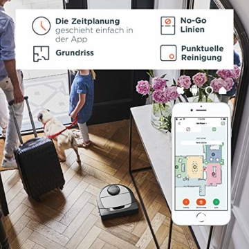 Neato Saugroboter D750 Navigation App mit Zeitplanung