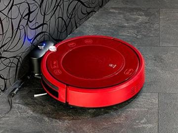 Sichler Haushaltsgeräte Akku Saugroboter: Staubsauger-Roboter PCR-3550UV mit Ladestation, HEPA-Filter & UV-Lampe (Wisch-Haushaltshelfer) - 5