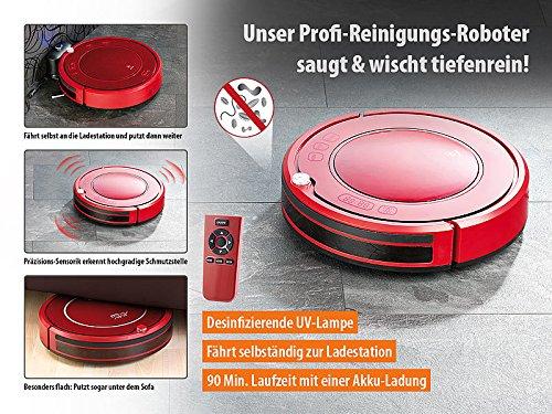 Sichler Haushaltsgeräte Akku Saugroboter: Staubsauger-Roboter PCR-3550UV mit Ladestation, HEPA-Filter & UV-Lampe (Wisch-Haushaltshelfer) - 6