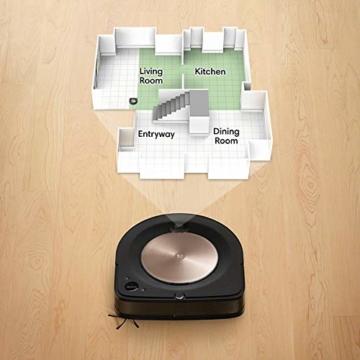 iRobot Roomba s9+ Über WLAN verbundener Saugroboter mit automatischer Absaugstation - PerfectEdge®-Technologie mit Eckenbürste und breiteren Gummibürsten für alle Böden - Leistungsverstärkung - 3
