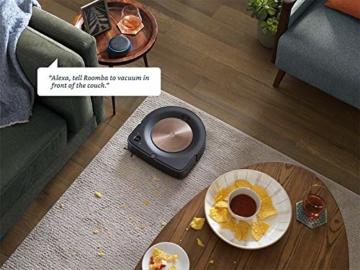 iRobot Roomba s9+ Über WLAN verbundener Saugroboter mit automatischer Absaugstation - PerfectEdge®-Technologie mit Eckenbürste und breiteren Gummibürsten für alle Böden - Leistungsverstärkung - 4