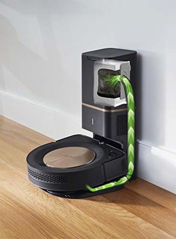 iRobot Roomba s9+ Über WLAN verbundener Saugroboter mit automatischer Absaugstation - PerfectEdge®-Technologie mit Eckenbürste und breiteren Gummibürsten für alle Böden - Leistungsverstärkung - 6