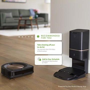 iRobot Roomba s9+ Über WLAN verbundener Saugroboter mit automatischer Absaugstation - PerfectEdge®-Technologie mit Eckenbürste und breiteren Gummibürsten für alle Böden - Leistungsverstärkung - 7