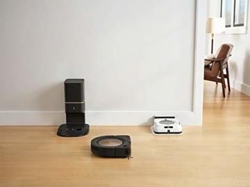 iRobot Roomba s9+ Über WLAN verbundener Saugroboter mit automatischer Absaugstation - PerfectEdge®-Technologie mit Eckenbürste und breiteren Gummibürsten für alle Böden - Leistungsverstärkung - 8