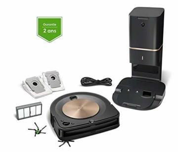 iRobot Roomba s9+ Über WLAN verbundener Saugroboter mit automatischer Absaugstation - PerfectEdge®-Technologie mit Eckenbürste und breiteren Gummibürsten für alle Böden - Leistungsverstärkung - 9