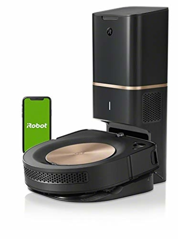 iRobot Roomba s9+ Über WLAN verbundener Saugroboter mit automatischer Absaugstation - PerfectEdge®-Technologie mit Eckenbürste und breiteren Gummibürsten für alle Böden - Leistungsverstärkung - 10