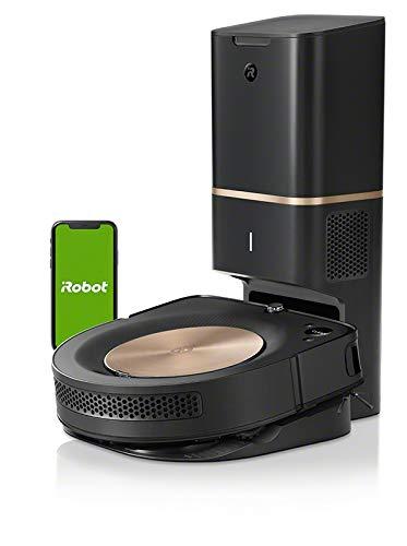 iRobot Roomba s9+ Über WLAN verbundener Saugroboter mit automatischer Absaugstation - PerfectEdge®-Technologie mit Eckenbürste und breiteren Gummibürsten für alle Böden - Leistungsverstärkung - 1
