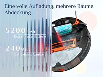 KYVOL S31 Saugroboter mit Wischfunktion,automatische Absaugstation, Staubsauger Roboter mit Laser Navigation,3000Pa Saugkraft, 240 Min.Laufzeit, Alexa &APP Steuerung, Ideal für Tierhaare, Teppiche - 7