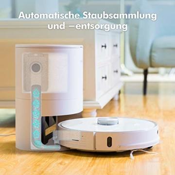 Neabot NoMo Saugroboter mit automatischer Absaugstation,WLAN Roboterstaubsauger,Laser-Navigation, intelligente Kartierung,APP/Alexa/Google Steuerung - 2