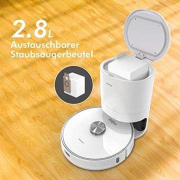 Neabot NoMo Saugroboter mit automatischer Absaugstation,WLAN Roboterstaubsauger,Laser-Navigation, intelligente Kartierung,APP/Alexa/Google Steuerung - 3