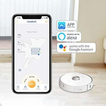 Neabot NoMo Saugroboter mit automatischer Absaugstation,WLAN Roboterstaubsauger,Laser-Navigation, intelligente Kartierung,APP/Alexa/Google Steuerung - 6