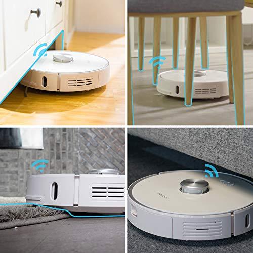 Neabot NoMo Saugroboter mit automatischer Absaugstation,WLAN Roboterstaubsauger,Laser-Navigation, intelligente Kartierung,APP/Alexa/Google Steuerung - 9