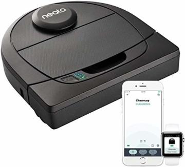 Neato Robotics D4 Smart Roboter-Staubsauger - Alexa-kompatibel - Roboter-Staubsauger mit Ladestation, WLAN und App - 1