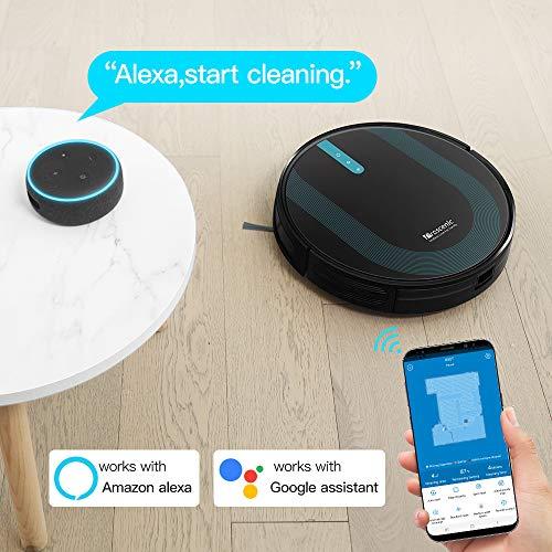 Proscenic 850T WLAN Saugroboter, Staubsauger Roboter, Alexa & Google Home & Appsteuerung, Saugroboter mit Wischfunktion, 3000Pa Saugleistung auf Teppichen und Hartböden, Magnetband für Begrenzung - 2