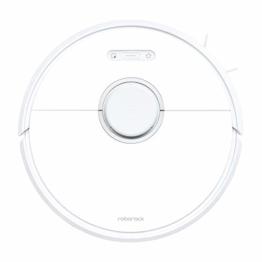 Roborock S6 Saug- und Wischroboter (Saugleistung 2000Pa, 180min Akkulaufzeit, 480ml Staubbehälter, 140ml Wassertank, 67db Lautstärke, Adaptiver Routenalgorithmus, App- und Sprachsteuerung) Weiß - 1