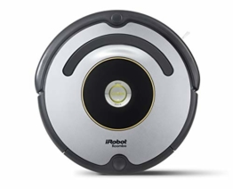 iRobot Roomba 615 Saugroboter mit 3-stufigem Reinigungssystem, Dirt Detect, Staubsauger Roboter selbstaufladend mit Ladestation, geeignet für Tierhaare, Teppiche und Hartböden, mit intelligentem Griff - 1