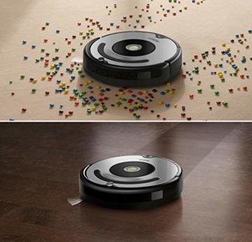 iRobot Roomba 615 Saugroboter mit 3-stufigem Reinigungssystem, Dirt Detect, Staubsauger Roboter selbstaufladend mit Ladestation, geeignet für Tierhaare, Teppiche und Hartböden, mit intelligentem Griff - 5
